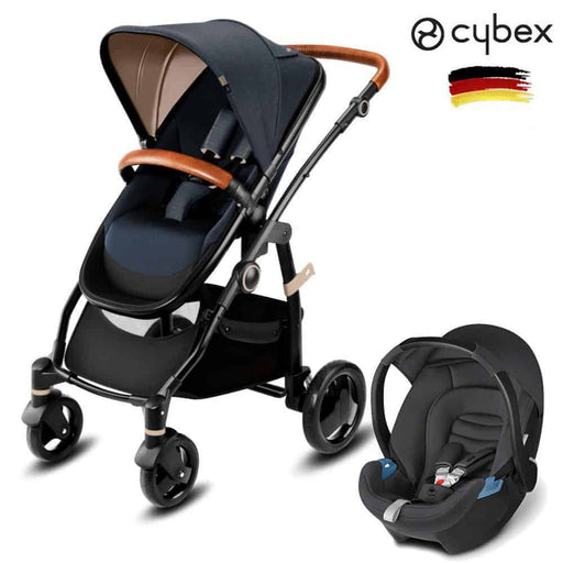 Cybex CBX Leotie Lux + CBX Aton Travel Set Jeansy Blue