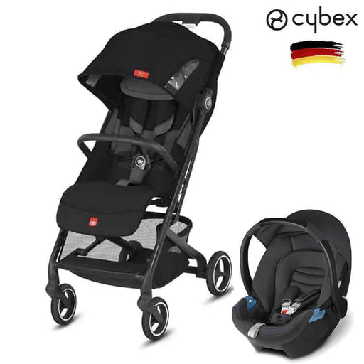 Cybex GB Qbit All City + CBX Aton Travel Set Velvet Black