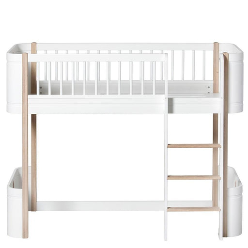 Oliver Furniture Çocuk Odası Low Loft Üst Karyola (Wood Mini+) White/Oak