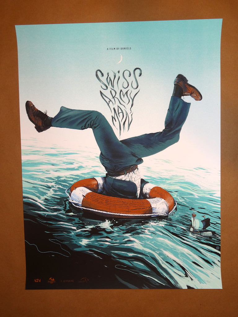 Details about Oliver Barrett – Swiss Army Man Mondo Poster Print
