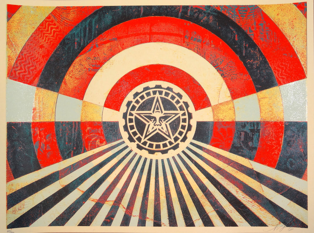 Shepard Fairey - Tunnel Vision (Red Version 2)