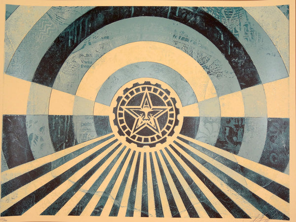 Shepard Fairey - Tunnel Vision (Blue)