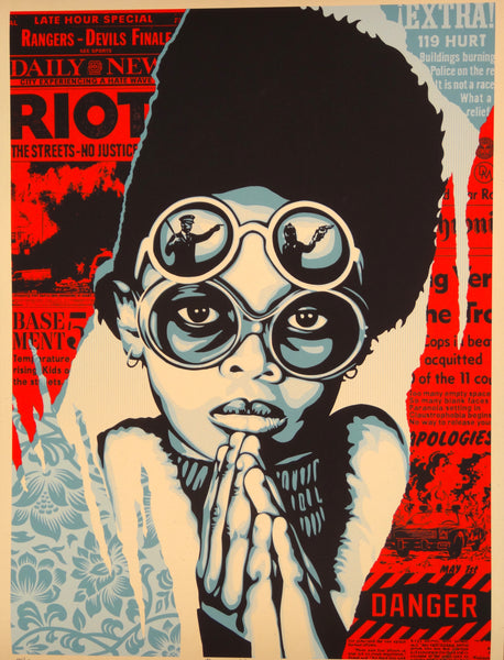 Shepard Fairey - Late Hour Riot