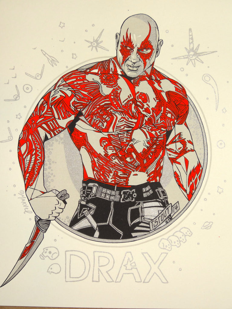 Tyler Stout - Drax (Guardians of the Galaxy Handbill)