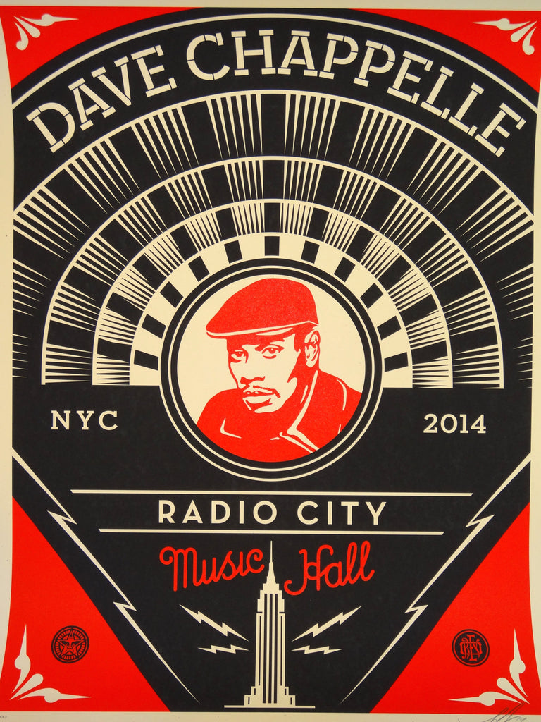 Shepard Fairey - Dave Chappelle NYC