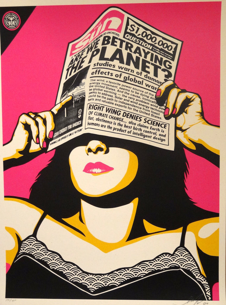 Shepard Fairey - Global Warming (Warhol Variant)