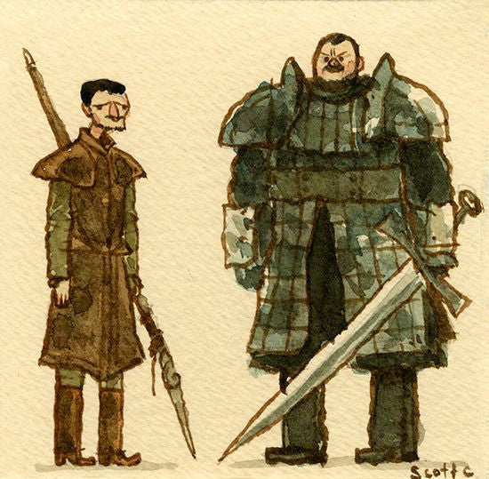 Scott Campbell (Scott C.) - Game of Thrones (The Viper vs the Mountain)