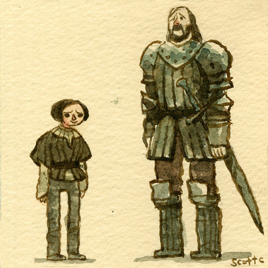 Scott Campbell (Scott C.) - Game of Thrones (Arya vs The Hound)