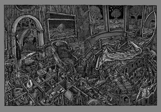 David Welker - The Maze Silver Screen Printed  Variant (PRE-SALE)