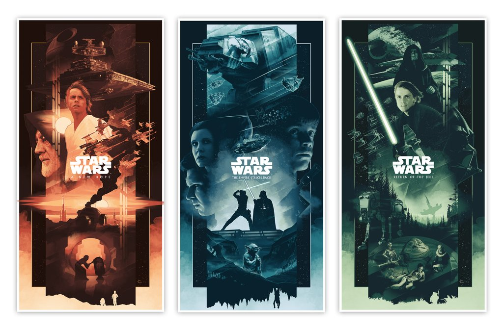 John Guydo - Star Wars Trilogy Variant Set (Presale)