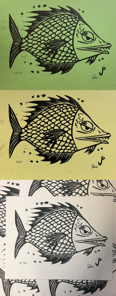 Jim Pollock - Fish Set (White, Green, Yellow Variant)