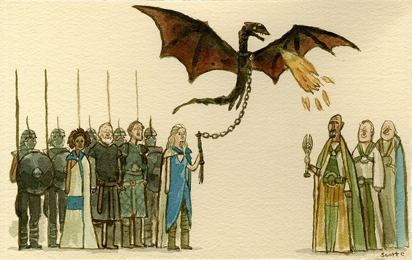 Scott Campbell (Scott C.) - Game of Thrones (Daenerys vs the Slavers)