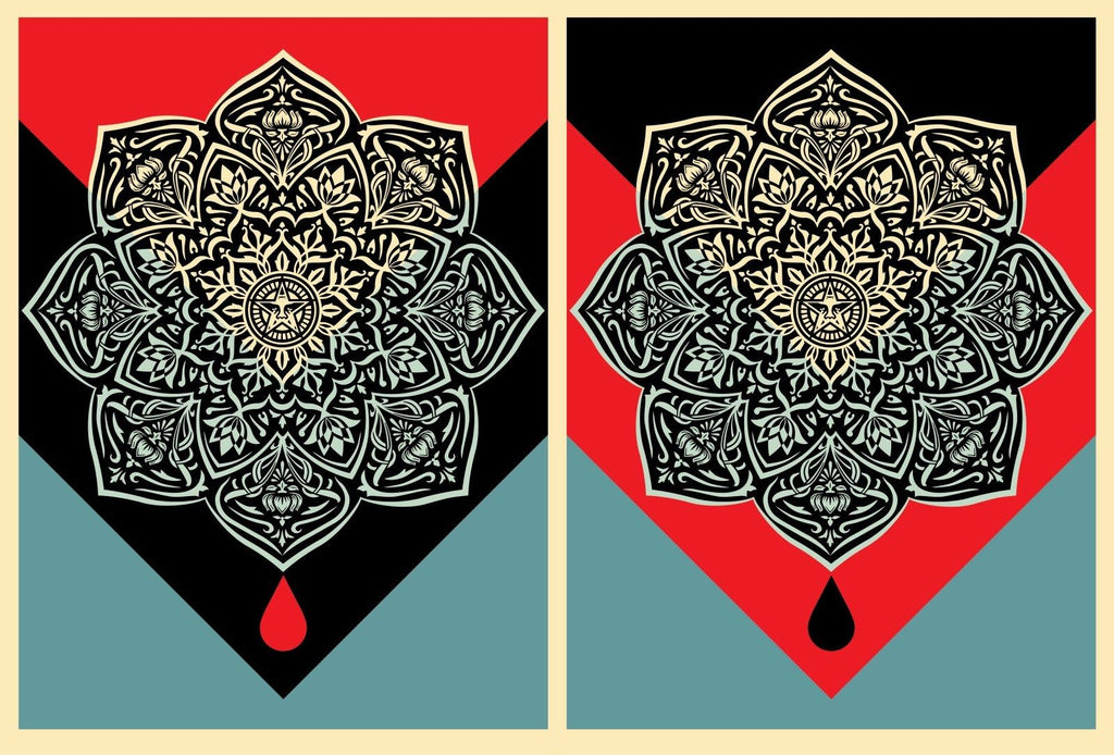 Shepard Fairey - Blood and Oil Mandala Set