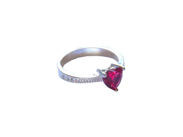Heart Ruby Ring