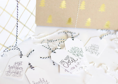 Printed Set // Holiday Gift Tags – Quirky