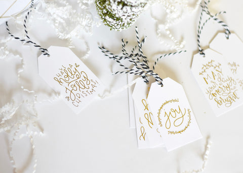 Printed Set // Holiday Gift Tags – Traditional