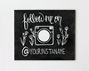 Instagram Chalkboard Sign