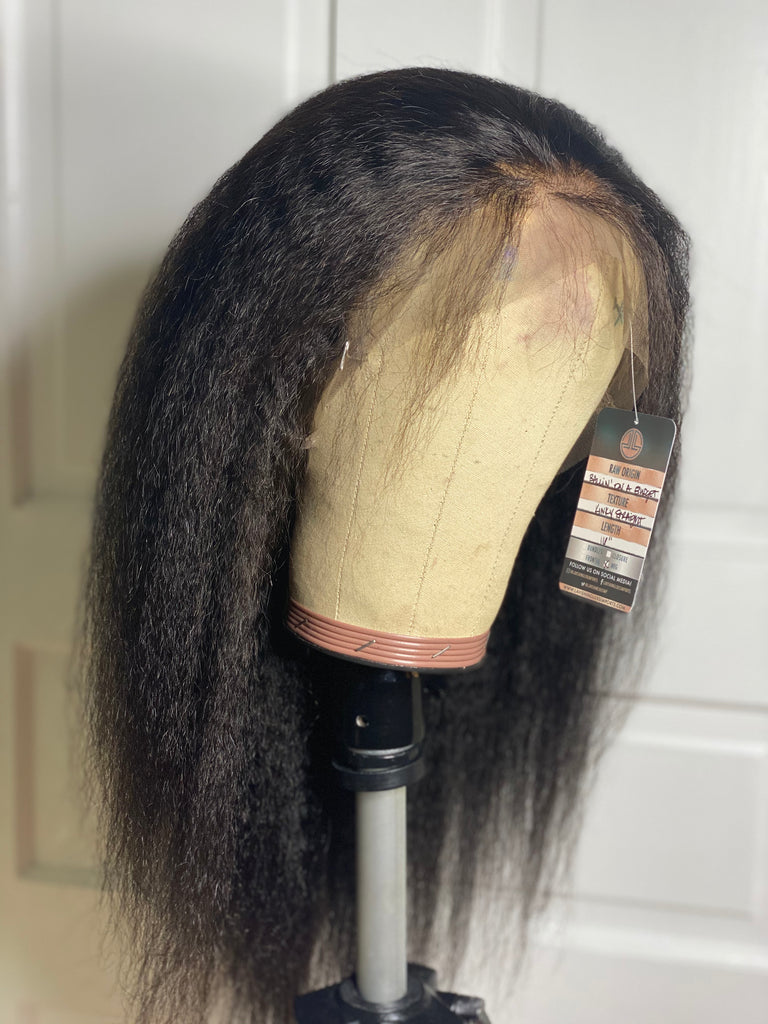 Full Lace Kinky Straight Wigs