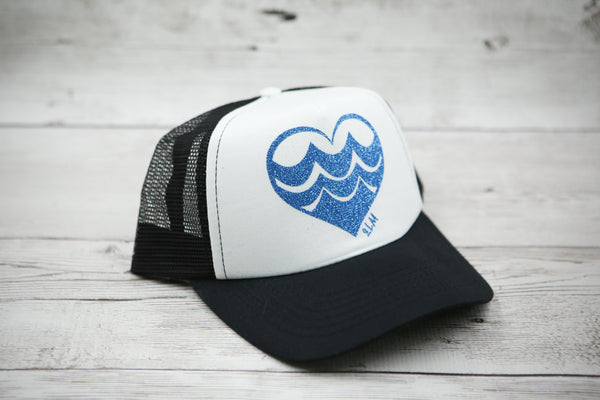 Wave Heart Hat