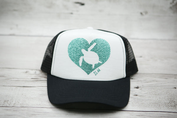 Honu Heart Hat (Sea Turtle)