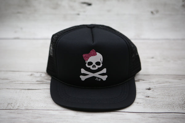 Kids Skull and Crossbones Hat WITH BOW