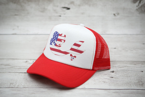 American Flag Mermaid Hat