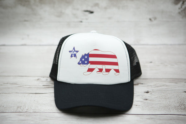 American Flag Bear Hat