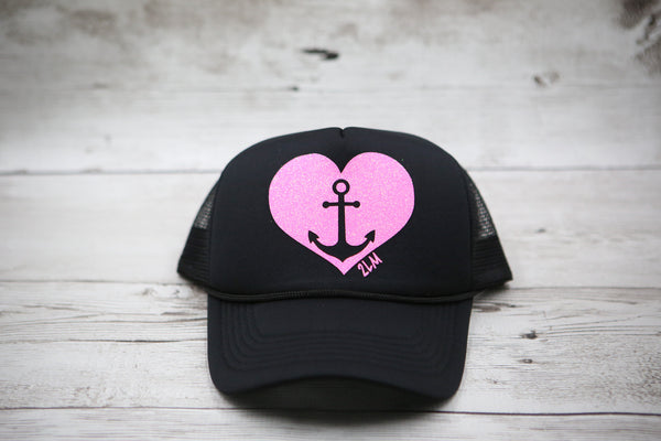 Anchor Heart Hat
