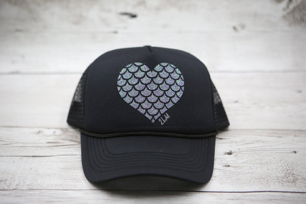 Mermaid Scale Heart Hat