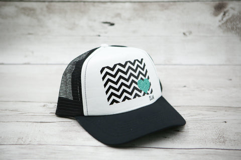 Chevron Pop Heart Hat
