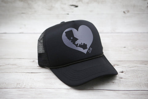 California Love Heart Hat