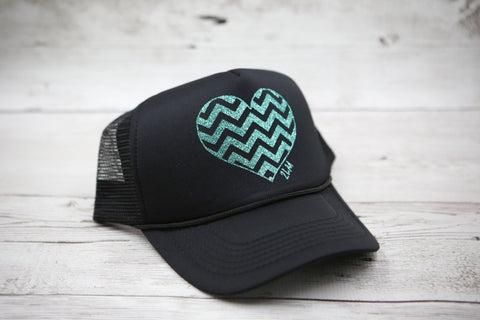 Chevron Heart Hat