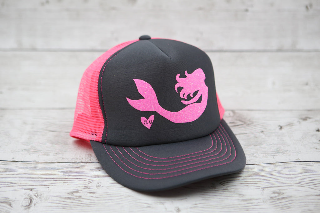 Limited Edition Mermaid Gliding Hat Charcoal/Pink