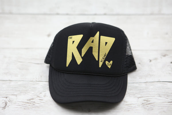 Kids Be Rad Today (with heart) Hat
