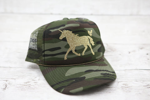 Camo Unicorn Hat