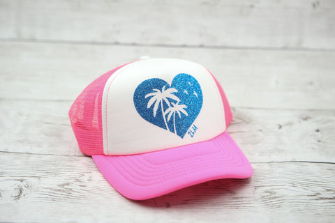 Palm Tree Heart Hat