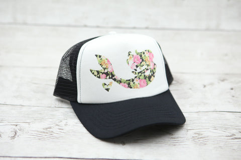 Floral Mermaid Gliding Hat (black floral)