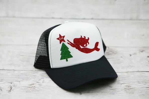Mermaid and Christmas Tree Hat