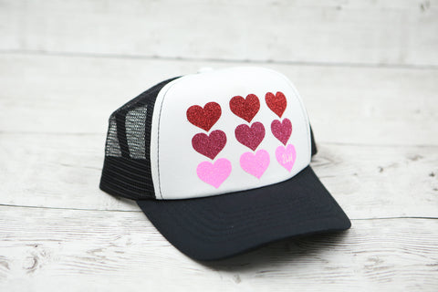Ombre Hearts Hat