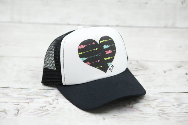 Arrow Heart Hat