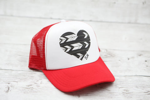 Feather Arrow Heart Hat
