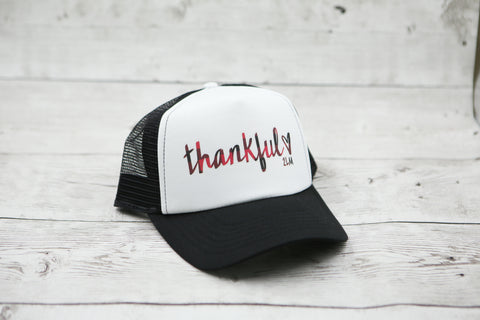 Buffalo Plaid Thankful Hat