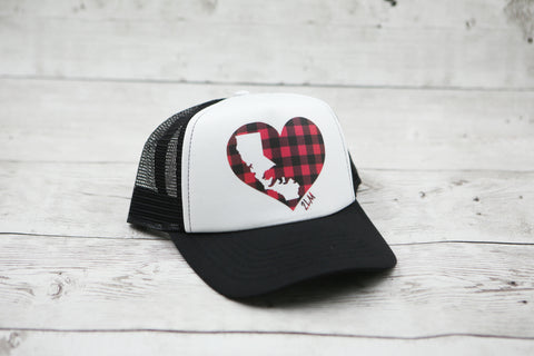 Buffalo Plaid California Love Hat