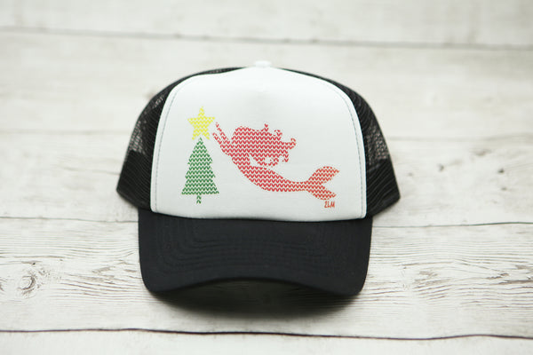 Mermaid Christmas Sweater Hat