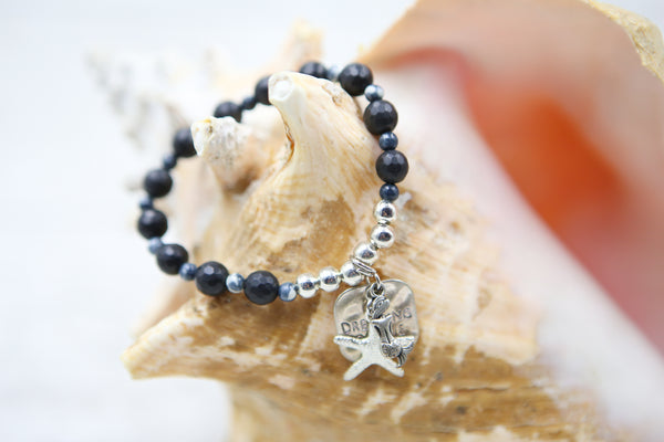 Dreaming of the Sea Bracelet- Black and Blue