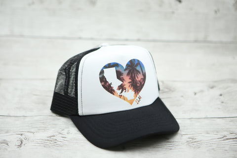 California Love Palm Trees Hat
