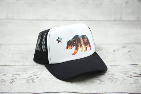 California Bear Palm Tree Hat