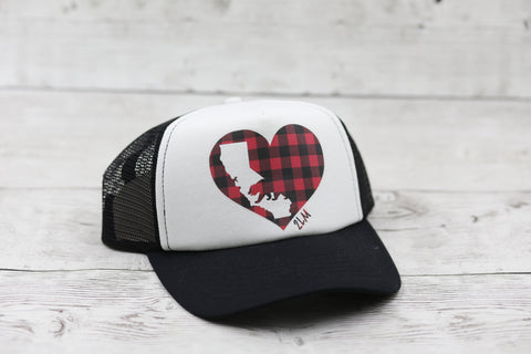 California Love Buffalo Plaid Hat