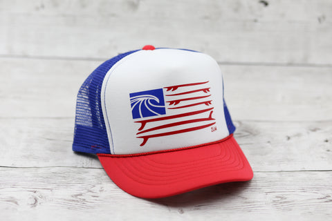 Surf Flag Hat- Mid Profile