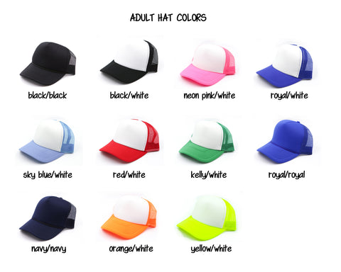 Customize Your Hat Color ADD ON